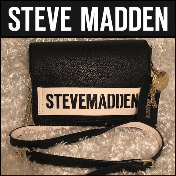 "111ac669b29 Steve Madden ""BPAIGE"" BLK   WHT Crossbody"